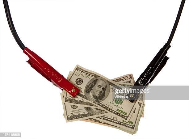 Haufen Geld sprangen