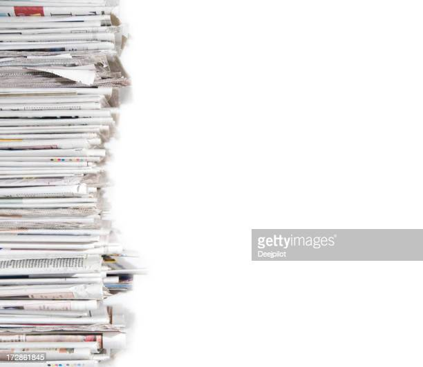 Pile of Newspapers Profile View