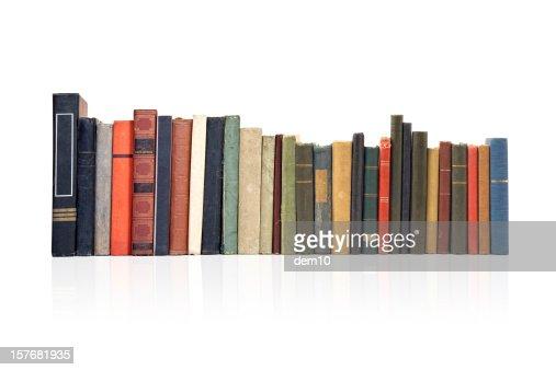 Haufen von alten antiken Büchern