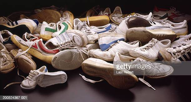 Pile of old trainers