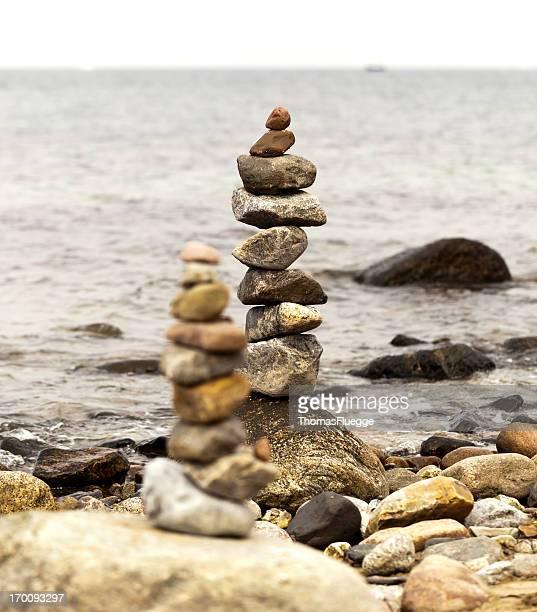 Haufen von Kiesel Steine