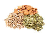 Pumpkin and sunflower seeds with almonds