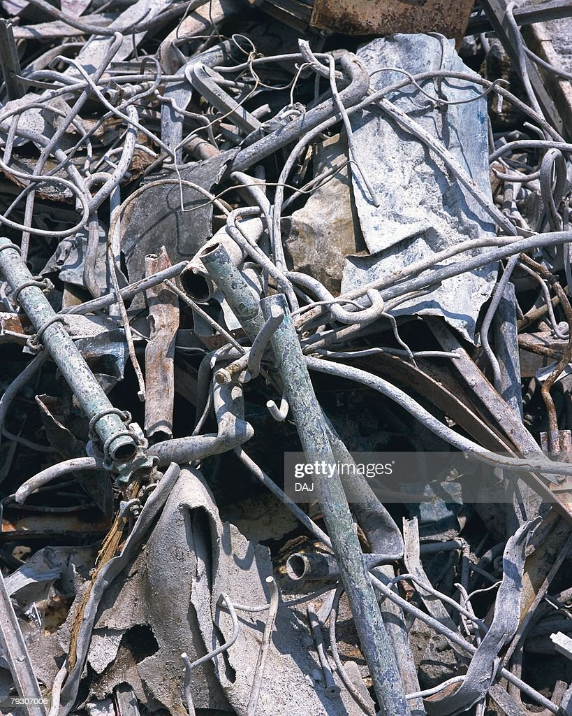 Pile of scrap irons, high angle view : Stock Photo