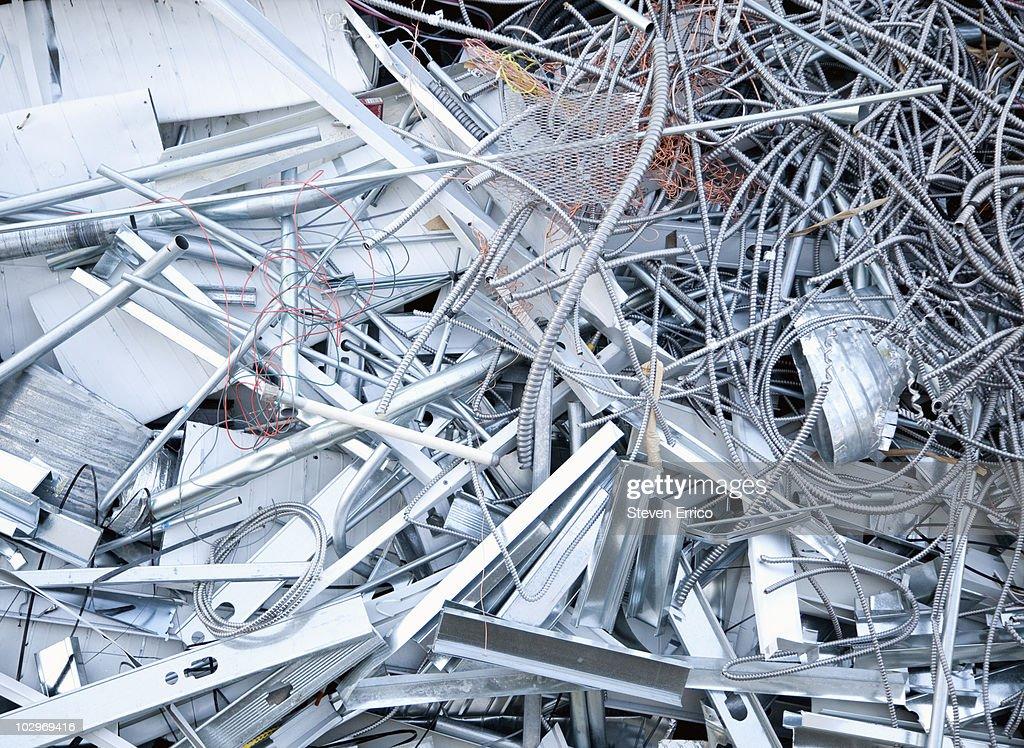 Pile of scrap metal : Stock Photo
