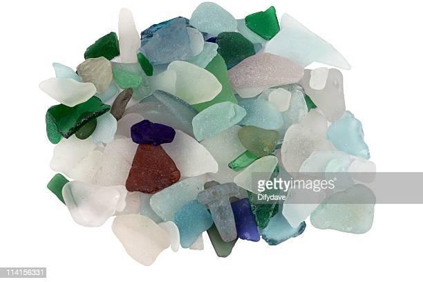 山の海ビーチのガラスが見つかりました。