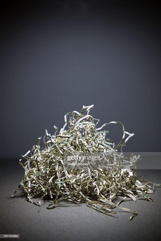 Pile of Shredded Money