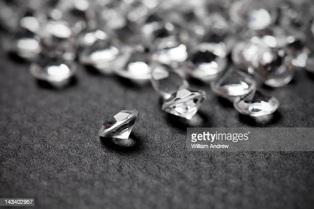 Pile of small diamonds