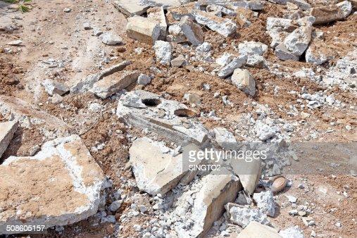 Pilha de destruída Betão : Foto de stock