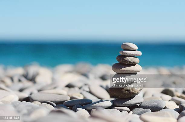 Pile of stones on beach