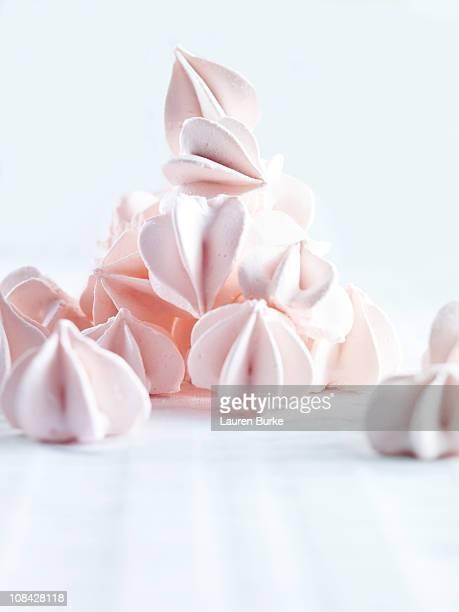 Pile of sugar meringues