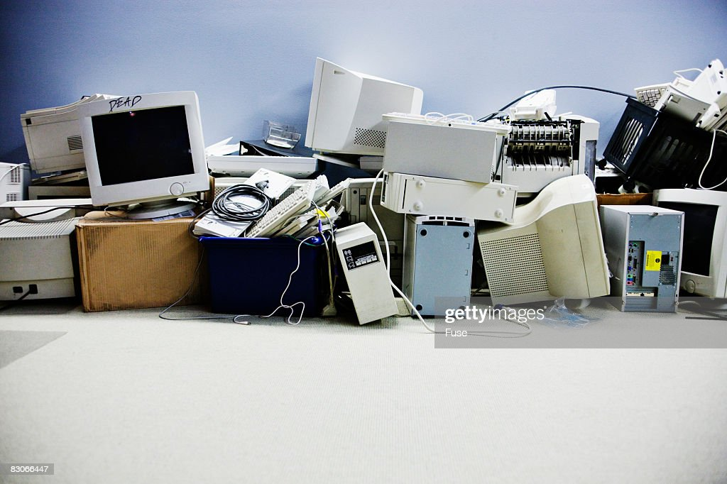 Pile of Used Computer Equipment