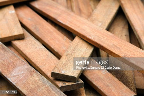 Pile of weathered wood planks stock photo getty images
