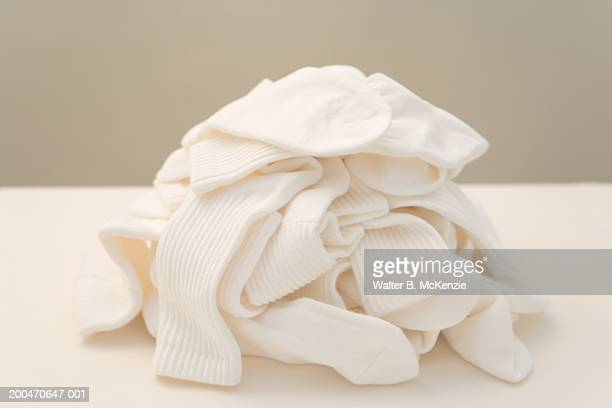 Pile of white tube socks