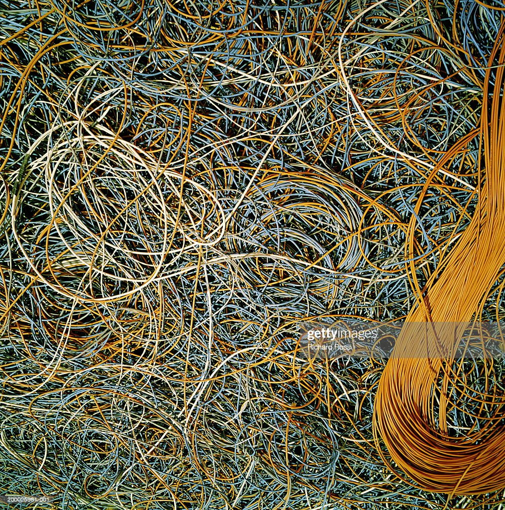 Pile of wires used for communication : Stock Photo