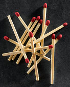 Pile of wooden matches