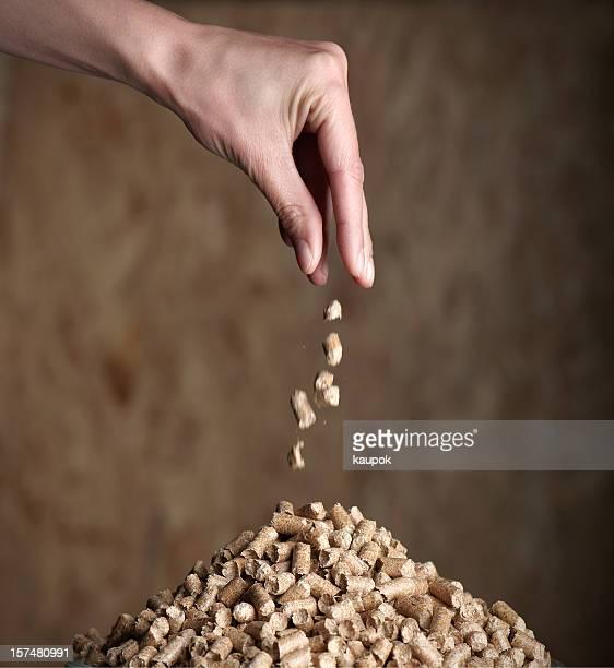 Pile of woodpellets