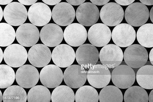 piled aluminium rods