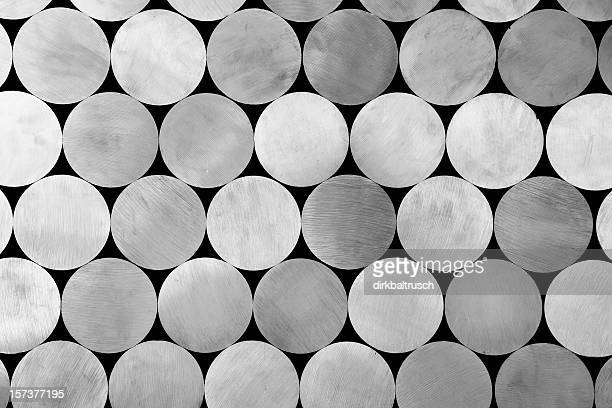 piled aluminium rods