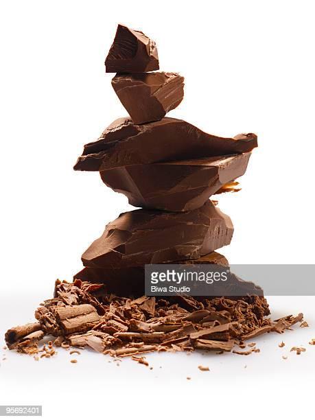 Piled chocolate blocks
