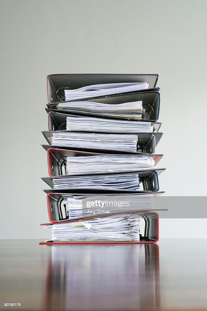 Piled up files