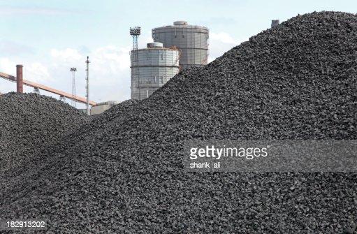 piles of coking coal