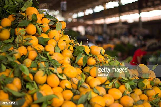 Piles of local oranges
