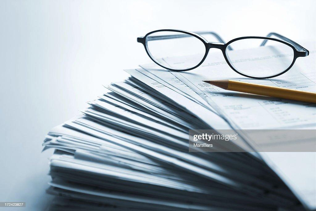 Piles of paperwork