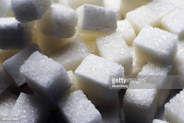 Piles of refined white sugar cubes sit at the EDF Man Ltd refinery in Nikolaev Ukraine on Friday Sept 22 2017 More sugar is coming to the world...