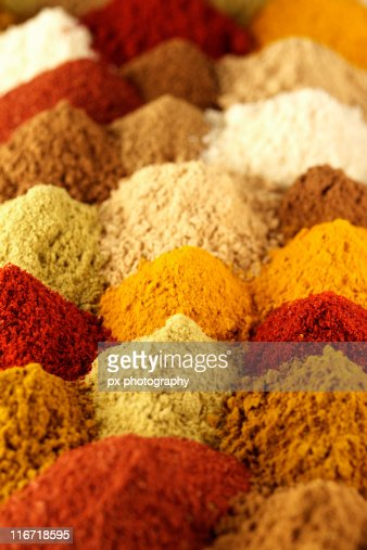 Piles of spices : Stock Photo