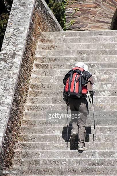 Le CVIM imagé (histoire sans parole) Pilgrim-climbing-a-staircase-picture-id460767543?s=612x612
