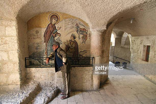 Pilgrim in Saidnaya convent near Damascus Syria