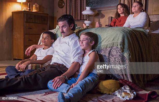 US 'Pilgrim Rick' Episode 108 Pictured Lonnie Chavis as 8 year old Randall Milo Ventimiglia as Jack Parker Bates as 8 year old Kevin Mackenzie...