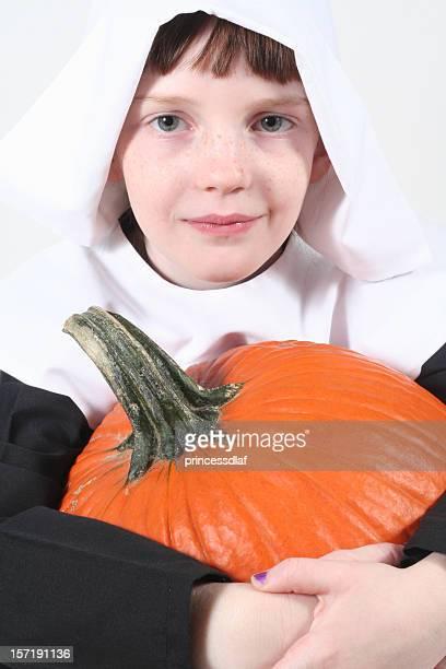 Pilgrim with Pumpkin