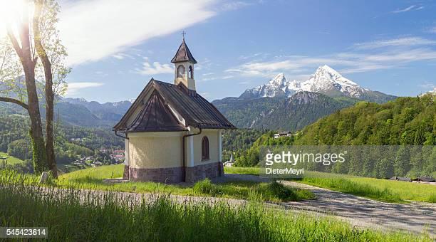 Pilgrimage Church Lockstein with Watzmann in Berchtesgaden
