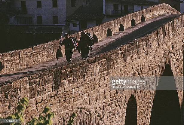 Pilgrimage of Santiago De Compostela in Spain in April 1999