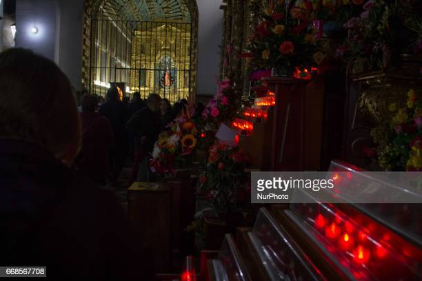 Pilgrimages and processions are still an essential part of Holy Week in Bogota Colombia on 14 April 2017 Commercial exploits of the Catholic holiday...