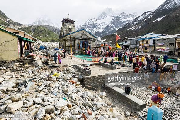 KEDARNATH UTTARAKHAND INDIA Pilgrims are visiting Kedarnath Temple The small town around Kedarnath Temple got totally destroyed by the 2013 flood...