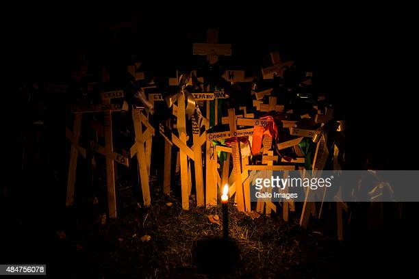 Pilgrims at a night vigil at the Holy Hill of Grabarka on August 19 2015 in Grabarka Poland It is said that a great miracle occurred on the Holy Hill...