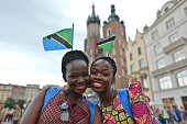 Pilgrims from Tanzania in Krakow's main Square Thousands of pilgrims from around the world arrive to Krakow on the eve of the World Youth Day 2016 On...