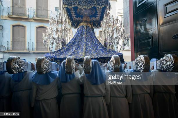 Piligrims at Holy Tuesday in Malaga Spain on 11th of April 2017 The procession called quotMartes Santoquot Holy Tuesday is the third day of the...