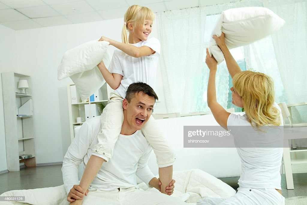 Pillow fight : Stock Photo