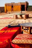 Pillows in a Tuareg village in the desert