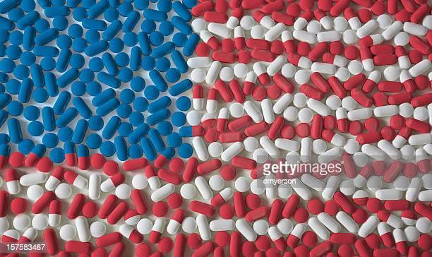 薬。アメリカの国旗