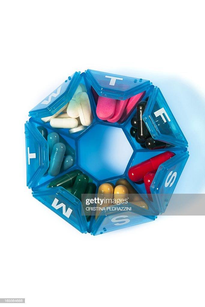 Pills in a pill box