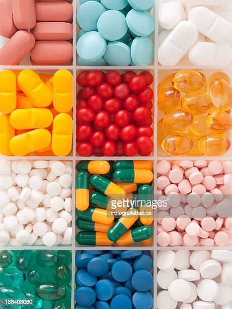 Pills in container