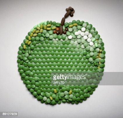 Pills in shape of apple