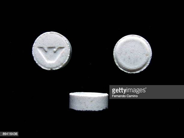Pills of drug confiscated by the police