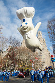 Pillsbury Doughboy float at the 89th Annual Macy's Thanksgiving Day Parade on November 26 2015 in New York City