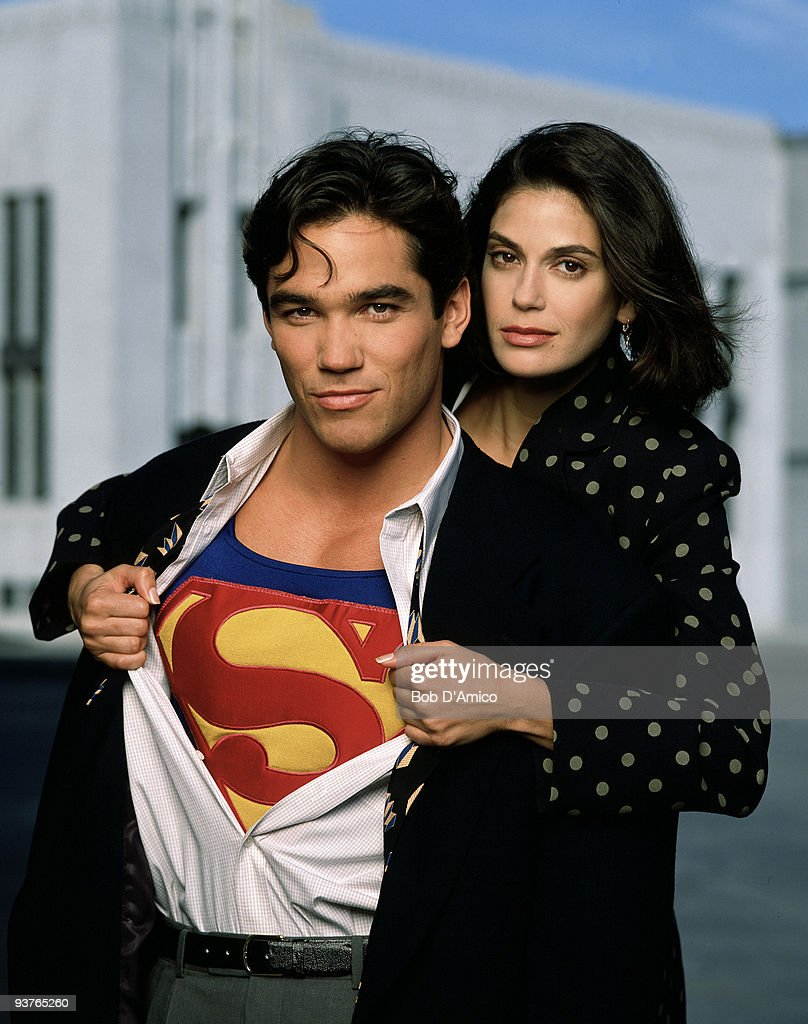 SUPERMAN - Pilot - 9/12/93, The 'Superman' story, focusing primarily on the relationship between Daily Planet reporter Clark Kent and his alter ego Superman/The Man of Steel (Dean Cain), and his fellow reporter Lois Lane (Teri Hatcher), continued in this 1993-97 ABC series. In the two-part pilot, the reporters worked on a story about the space program being hijacked.,