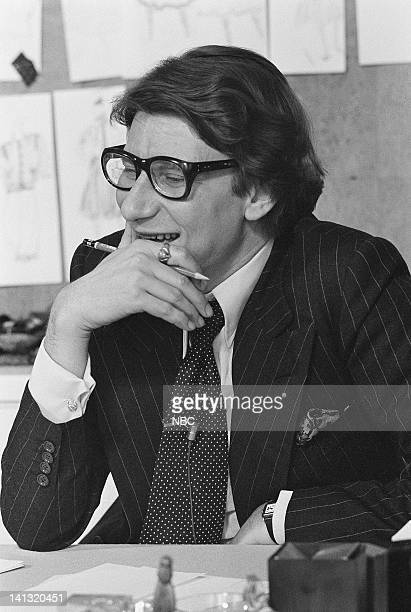 NOW 'Pilot' Aired Pictured Fashion designer Yves St Laurent at his couture workshop Photo by NBCU Photo Bank